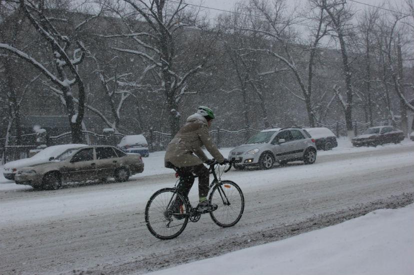 зимой на велосипеде, Александр Габченко