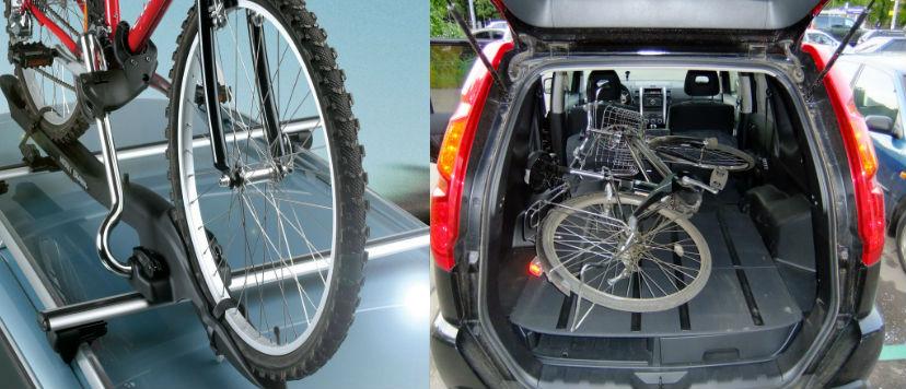 Как перевозить велосипед в автомобиле