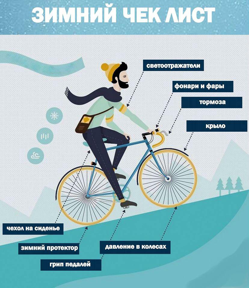 Чек-лист для зимней езды на велосипеде
