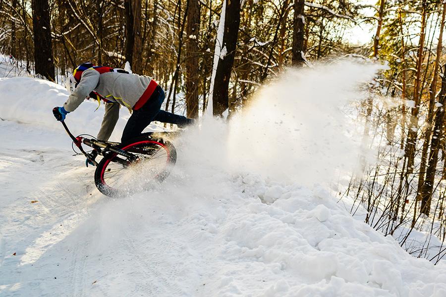 Особенности зимнего катания на велосипеде