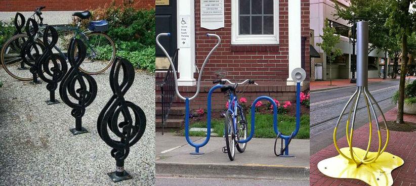 необычные велопарковки