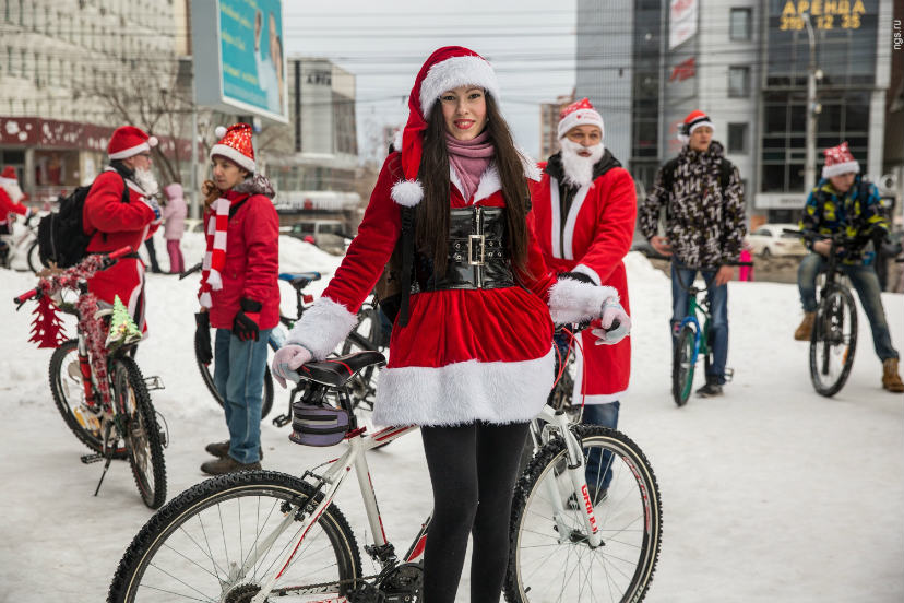 новогодний велопарад