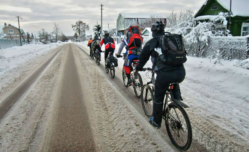 зимний велотуризм, велотуризм в зимнее время