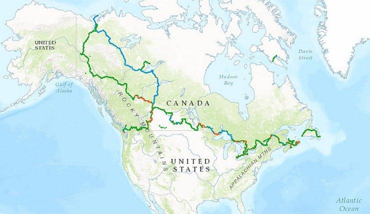 The Great Trail — самое длинное в мире велосипедное шоссе